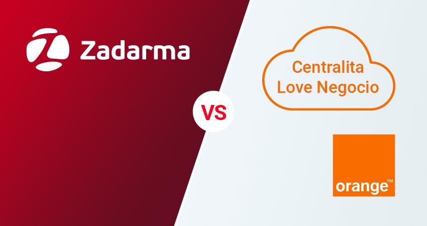 Centralita Virtual Zadarma vs Centralita Love Negocio Orange