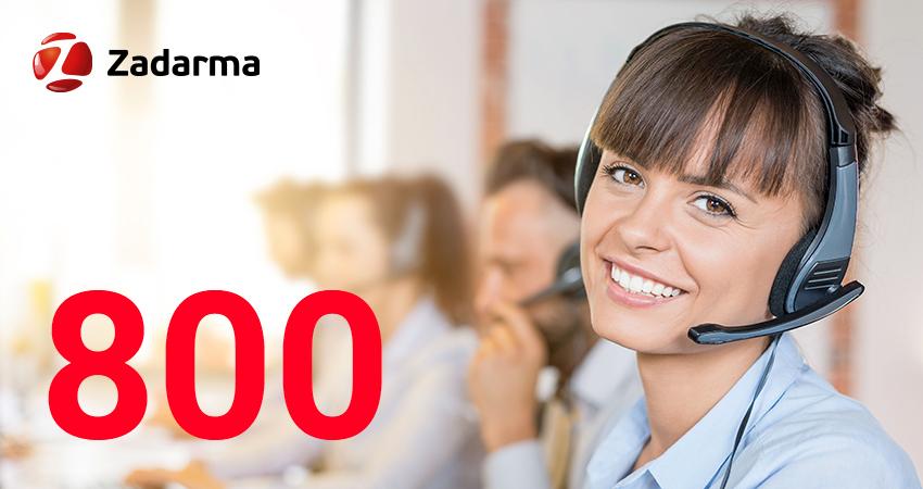 800 numbers Zadarma