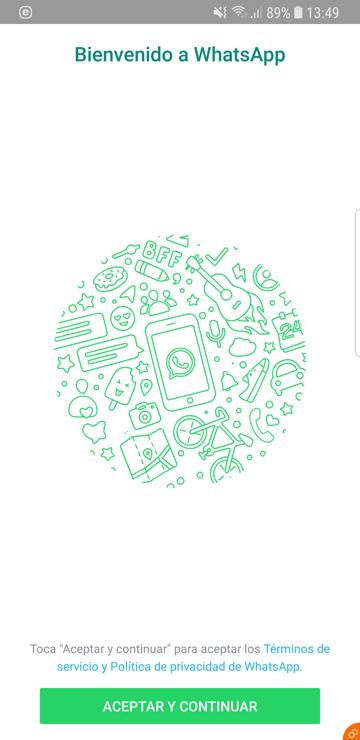Regístrate en WhatsApp