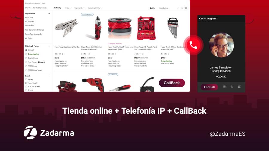 tienda online mas telefonia ip mas CallBack