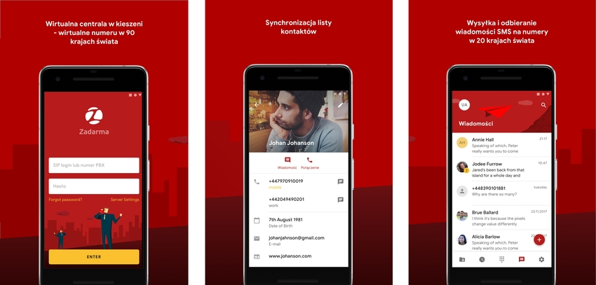 aplikacja Zadarma