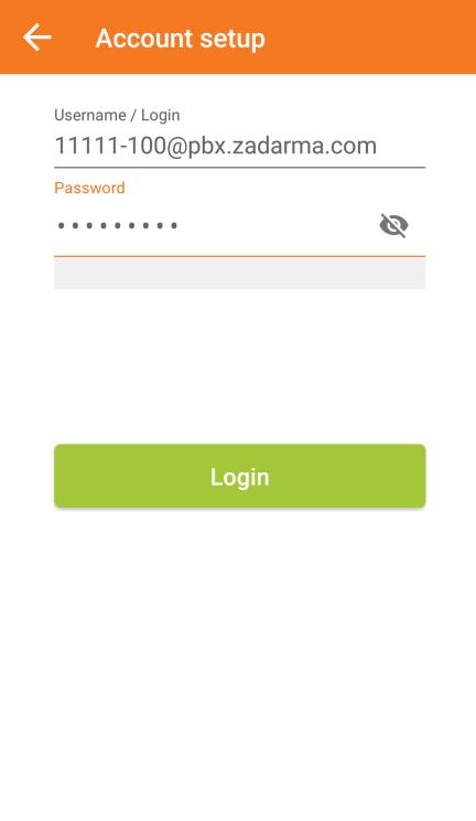 Zadarma: ZoIPer on Android