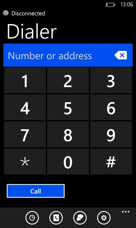 Zadarma: Linphone, Windows Phone
