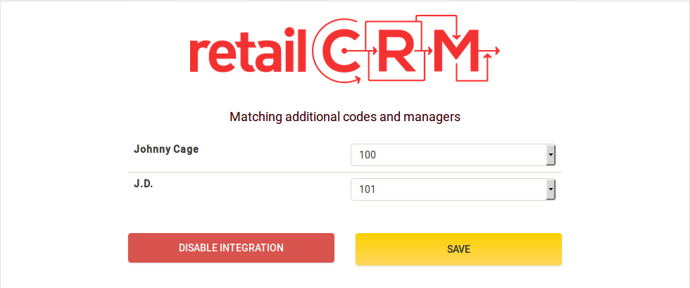 retailCRM extension de la centralita virtual Zadarm