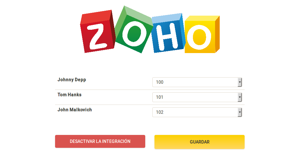 Integración de centralita virtual Zadarma y Zoho CRM segundo paso
