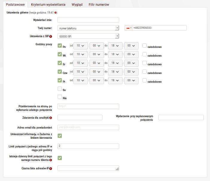 Widget Callback Zadarma Instrukcja